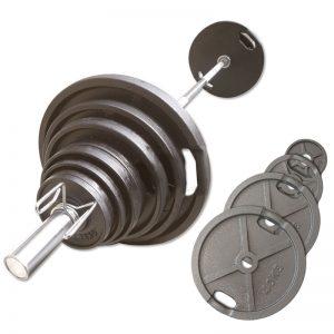 Ironsports Olympische Halterset 140 kg Gietijzer
